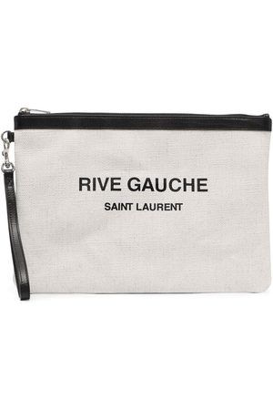 Saint Laurent Logo-Print Clutch