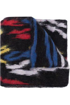 Saint Laurent Logo-Patch Wool Scarf