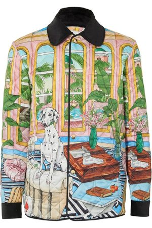 Casablanca Dream House Printed Quilted Hunting Jacket