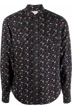 Saint Laurent Star-Print Western-Style Shirt
