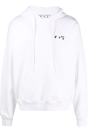 OFF-WHITE Logo-Detail Cotton Hoodie
