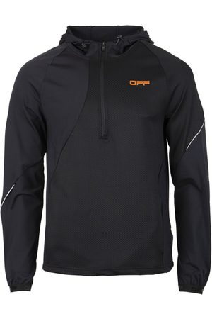 OFF-WHITE Active Fabric Mix Hoodie Black And