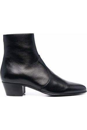 Saint Laurent Men Ankle Boots - Joey Block-Heel Ankle Boots