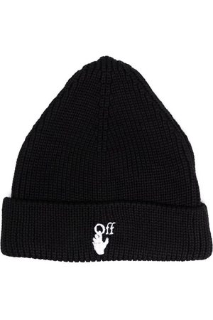 OFF-WHITE Hands Off Ribbed-Knit Beanie