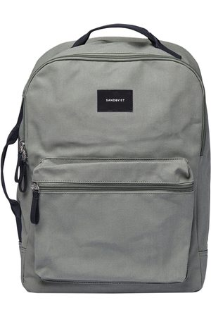 Sandqvist Luggage - August Backpack - Dusty With Navy Webbing