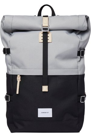 Sandqvist Luggage - Bernt Backpack - Multi Grey With Natural Leather