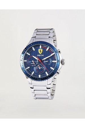 FERRARI Multifunction Pista watch with blue dial and steel bracelet