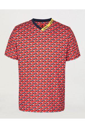 FERRARI Men's cotton T-shirt with all-over print