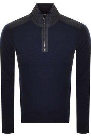 Belstaff Half Zip Sweatshirt Navy