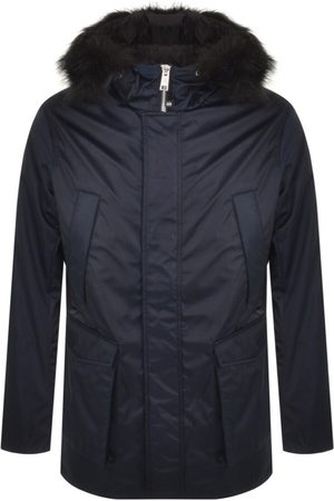 Armani Hooded Down Jacket Navy