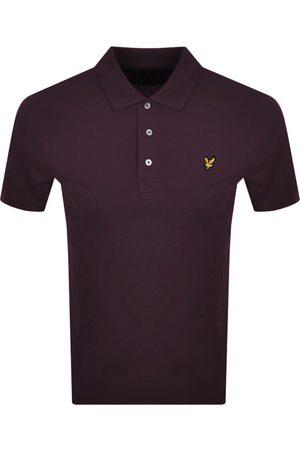 Lyle & Scott Short Sleeved Polo T Shirt Burgundy