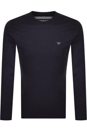 Armani Emporio Lounge Long Sleeved T Shirt Navy