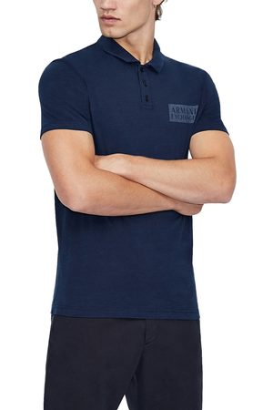 Armani Men's Logo Patch Cotton Polo