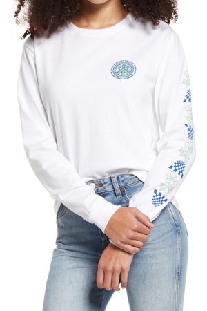 Vans Women's Peace Property Long Sleeve Boyfriend Cotton Graphic Tee