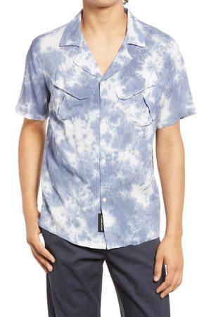 Native Youth Men's Men's Tie Dye Short Sleeve Button-Up Shirt