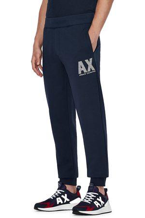 Armani Men's Ax Logo Graphic Sweatpants