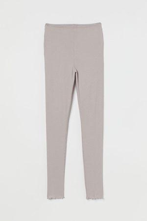 H&M Women Sweats - Ribbed Pajama Leggings