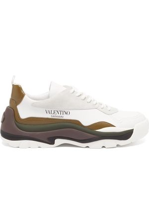 VALENTINO GARAVANI Men Sneakers - Gumboy Layered-sole Leather Trainers - Mens - Multi