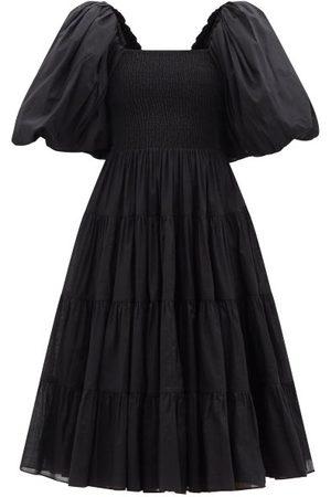 AJE Women Midi Dresses - Cherished Puff-sleeve Cotton Midi Dress - Womens