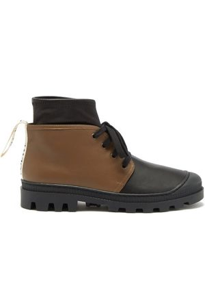 Loewe Lace-up Leather Ankle Boots - Womens