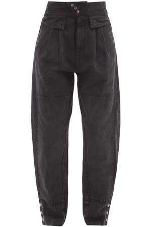SEA Women High Waisted - Augustine High-rise Pleated Jeans - Womens