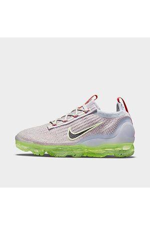 Nike Women Running - Women's Air VaporMax 2021 Flyknit Running Shoes in Grey/Light Bone Size 7.5