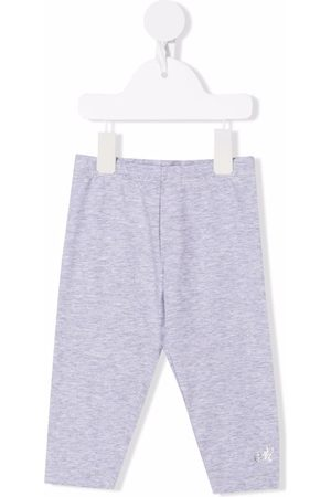 MONNALISA Mid-rise stretch-cotton leggings - Grey