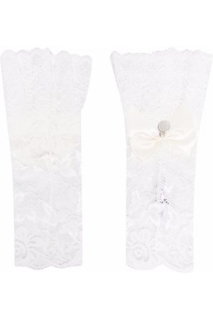 MONNALISA Boys Bow Ties - TEEN lace bow-embellished arm warmers