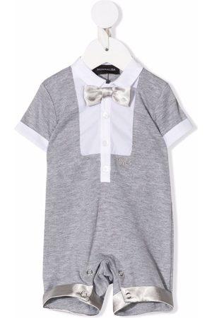 MONNALISA Contrast-trimmed short-sleeve shorties - Grey