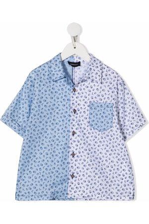 MONNALISA Floral-print poplin shirt