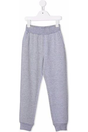 MONNALISA Logo-print track pants - Grey