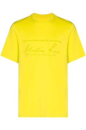 MARTINE ROSE Logo print short-sleeve T-shirt