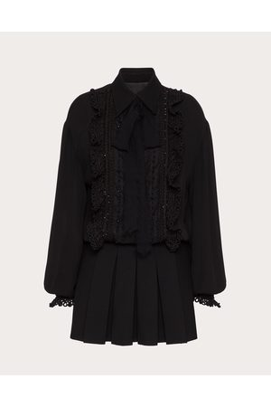VALENTINO Women Party Dresses - Embroidered Georgette Dress Women 100% Silk 40