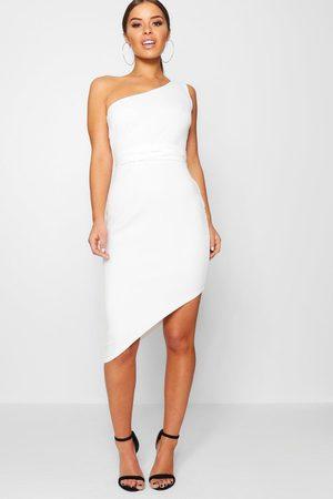 Boohoo Womens Petite Recycled Asymmetric Bodycon Dress - - 2
