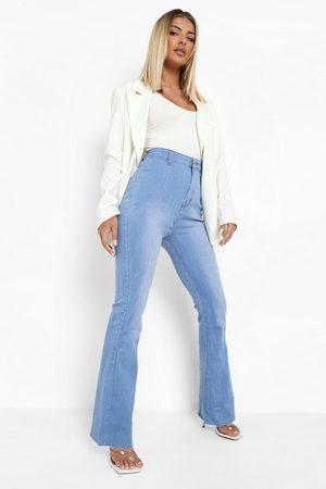 Boohoo Womens Stretch Denim Flare Jeans - - 2