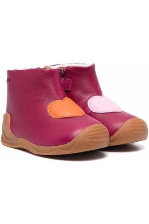 Camper Rain Boots - Heart-motif leather wellies