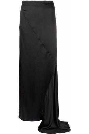 ANN DEMEULEMEESTER Bias-cut asymmetrical draped skirt