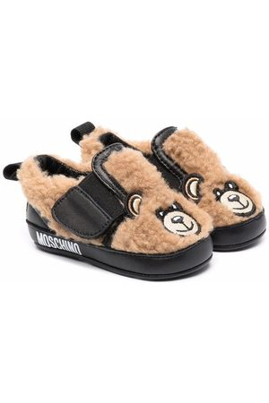 Moschino Teddy Bear sheepskin shoes - Neutrals