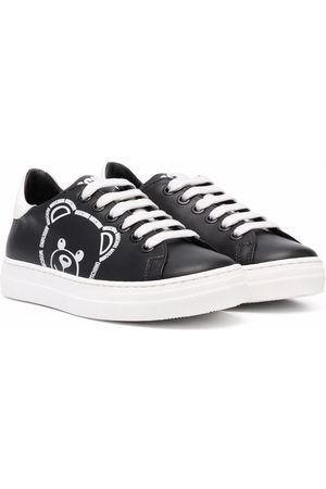 Moschino Bear print low-top sneakers