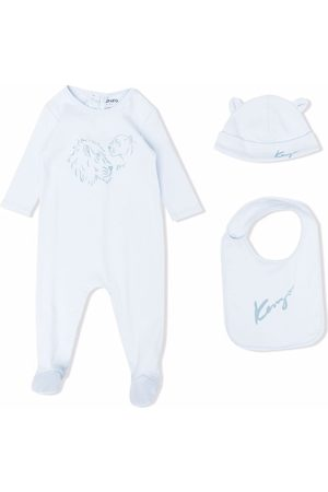 Kenzo Bodysuits & All-In-Ones - Tiger-print babygrow-bib-hat set
