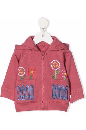 Stella McCartney Embroidered zip-up hoodie