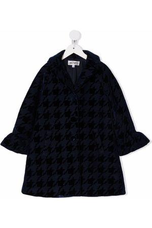 Simonetta Girls Coats - Houndstooth-print single-breasted coat