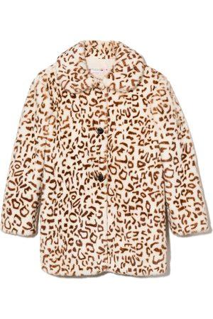 BONPOINT Girls Coats - Leopard print coat