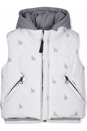 Lapin House LA-print layered hooded gilet