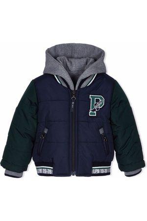 Lapin House Boys Bomber Jackets - Logo-print hooded bomber jacket