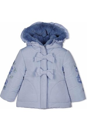 Lapin House Bow-detail padded parka coat