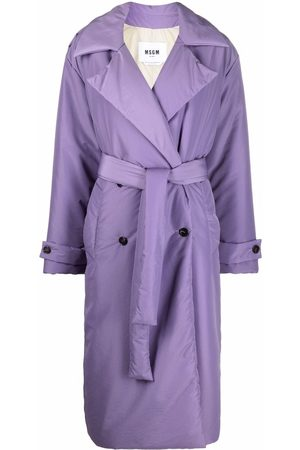 Msgm Women Trench Coats - Padded trench coat