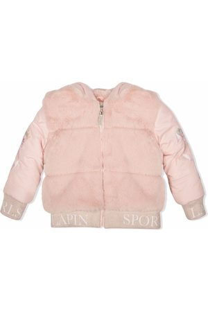 Lapin House Faux-fur panelled bomber jacket
