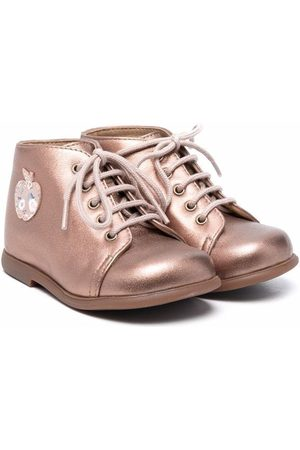 Pom d'Api Rose-gold lace-up booties