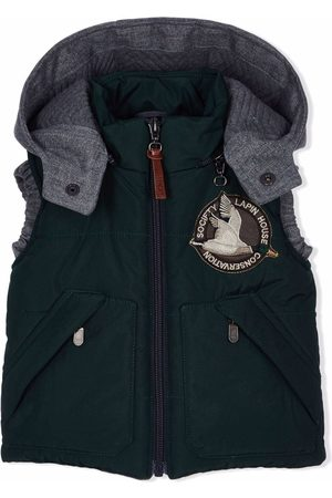 Lapin House Gilets - Embroidered-logo hooded gilet